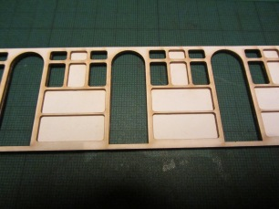 First step in making the carriage was to glue the lasercut layers together