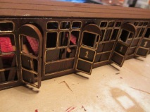 The last part of the train carriage build was to attach a ceiling piece to the model