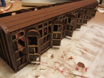 Final look of the train carriage part of the model