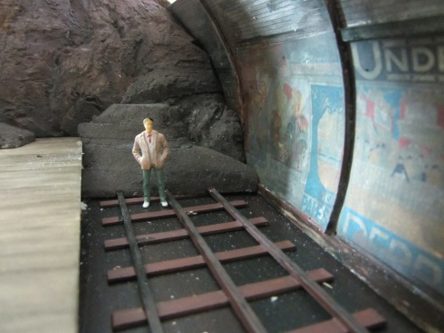 I used Kapa-line foam board again for the collapsed tunnel