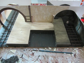 I then painted the central supports