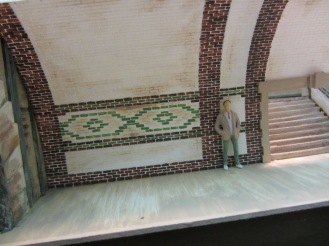 The pattern was copied from Brompton Road tube station