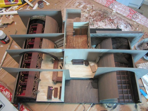 Areas of the model that were only structural had at this point been left unpainted